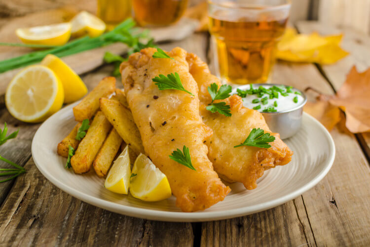 Find a great pub that serves fresh fish and chips in Northumberland