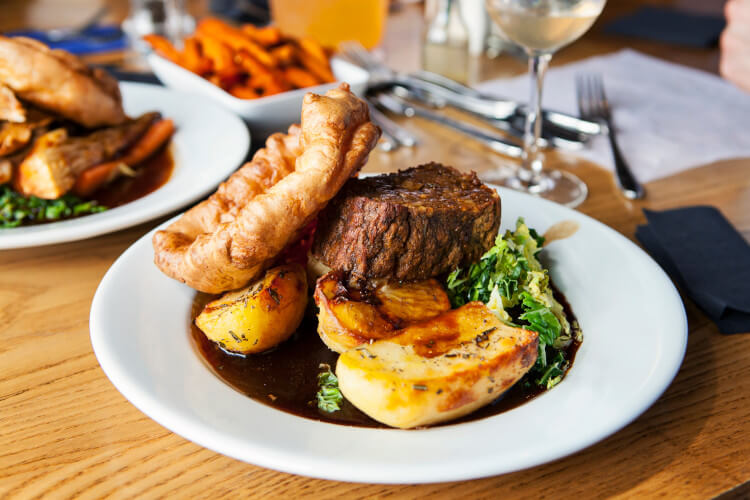 Enjoy a delicious carvery in a Northumberland pub.
