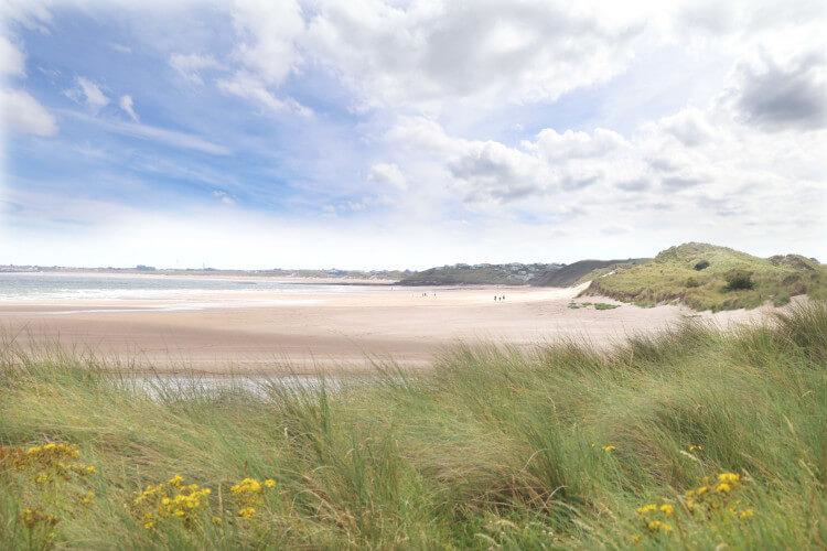 Alnmouth beach on Northumberland's coast