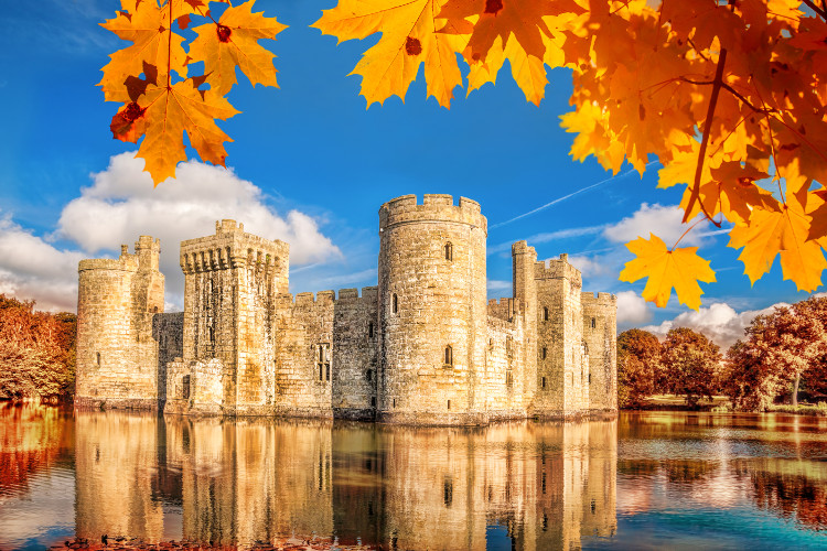 Autumn at Bodiam Castle in East Sussex