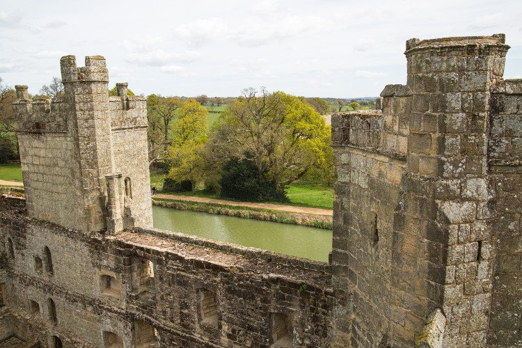 The towers of Bodiam Castle in East Sussex