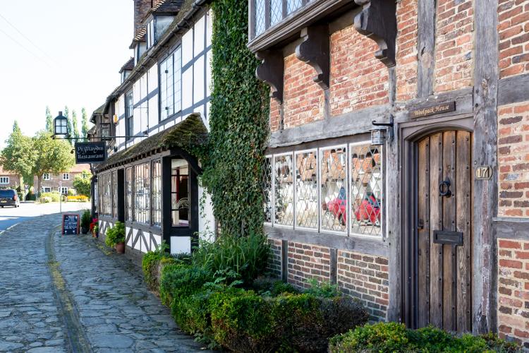 Old buildings in Biddenden, a pretty village in Kent