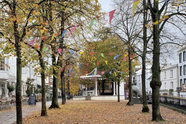 Pantiles autumn Tunbridge Wells Kent