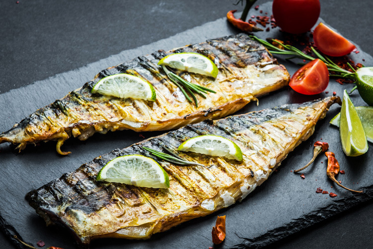 BBQ Mackerel with ginger, chilli and lime