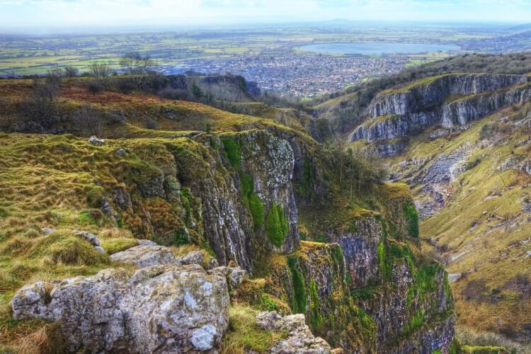 Cheddar Gorge walk in Somerset