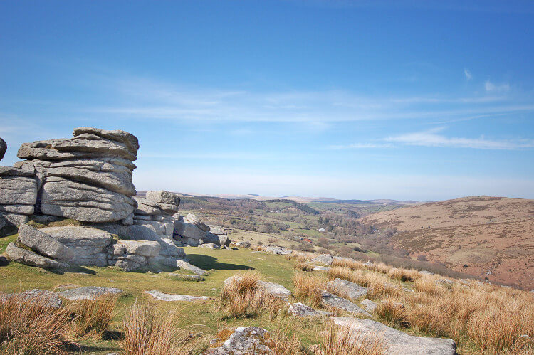 Rock stacks in Dartmoor National Park, Devon