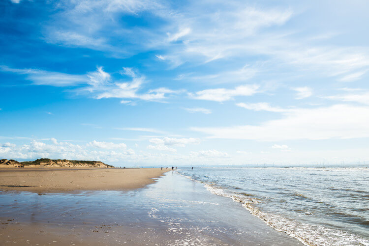 Formby dog friendly beach near Liverpool in Lancashire