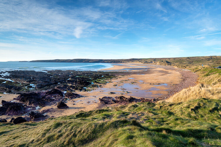 Freshwater West dog friendly beach in Pembrokeshire, Wales