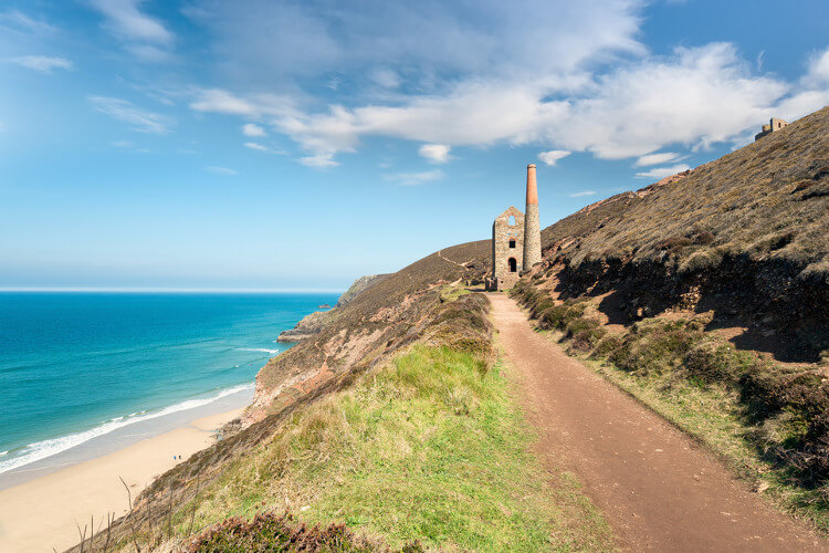 Wheal Coates on the South West Coast Path near St Agnes, Cornwall