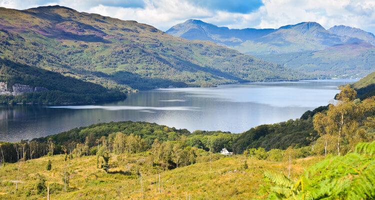 Loch lomond and Ben Lomond in Scotland