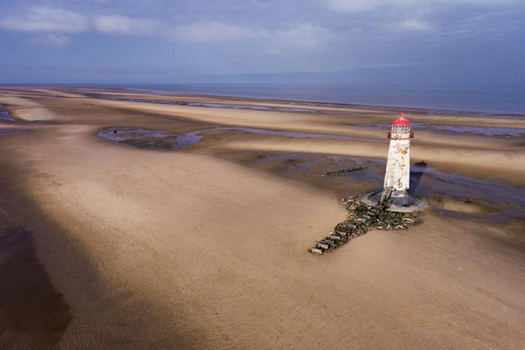 Lighthouse at Talacre beach