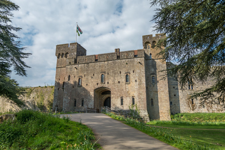 Caldicot Castle in Monmouthshire, Wales