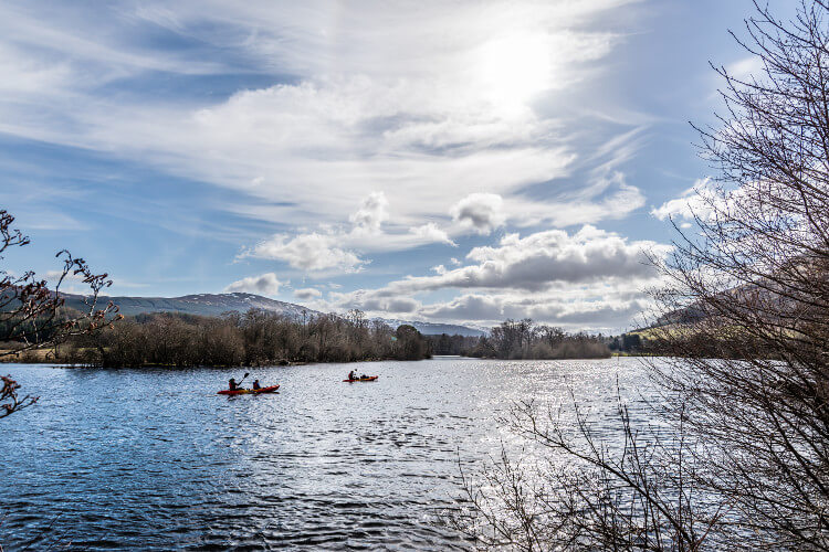 Kayaking on Loch Tay