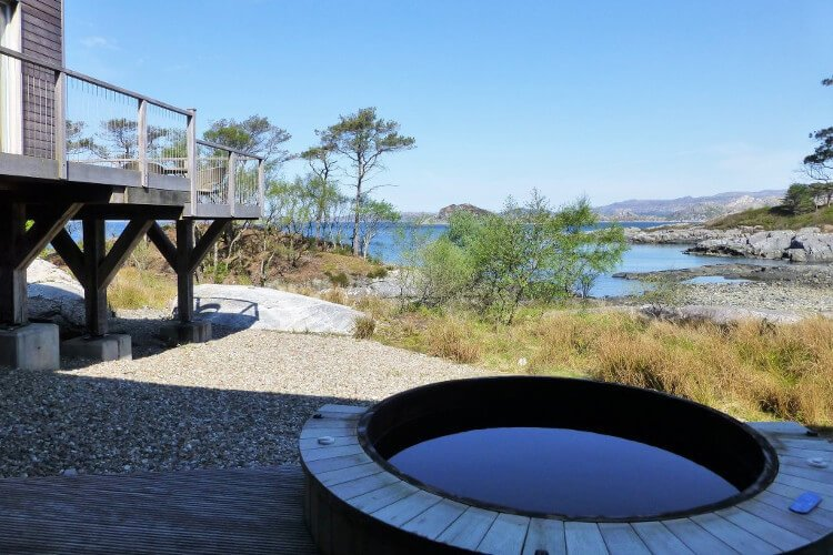 Hot tub at Taigh na Coille