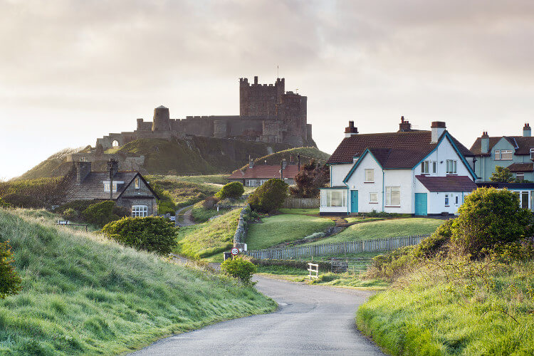 Bamburgh - pretty Northumberland village
