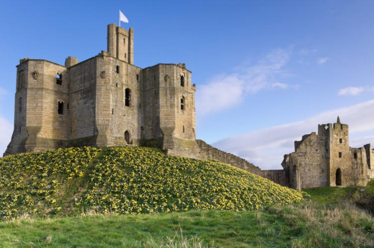 Warkworth Castle in Northumberland