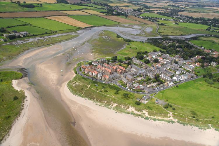 Alnmouth Northumberland aerial view