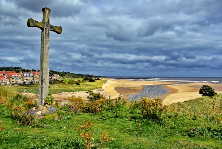 Alnmouth stone cross Northumberland