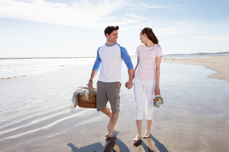 generic couple on beach