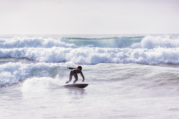 Surfing at Seahouses