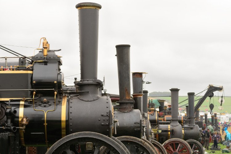 Vintage steam trains at the Dorset County Show