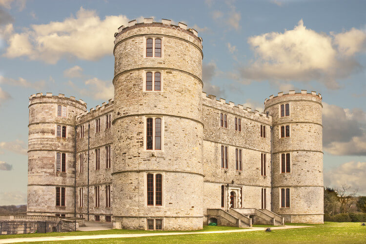 Lulworth Castle in Dorset