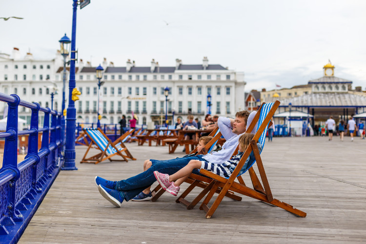 Take in the views on Eastbourne Pier