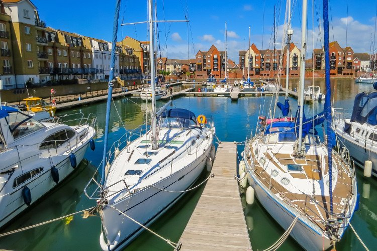 Watch the luxury yachts at Sovereign Harbour