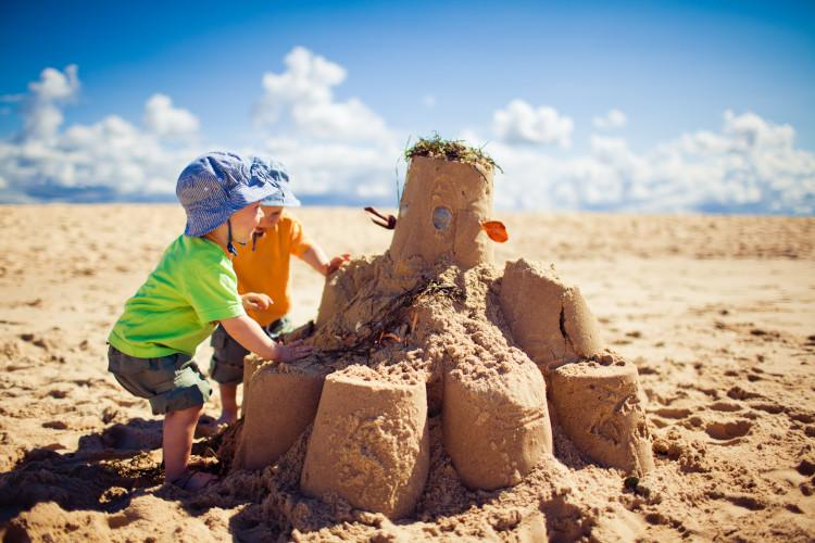 Family-friendly Yorkshire coast - build a sandcastle