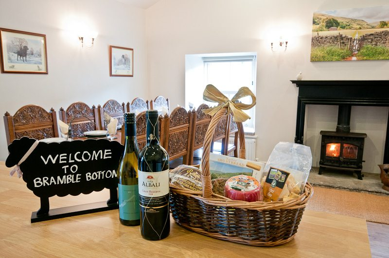 Welcome hamper and drinks