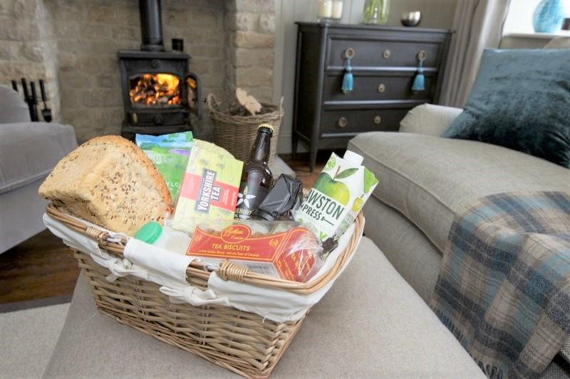 Holiday Cottage guests will love arriving to a well-stocked hamper