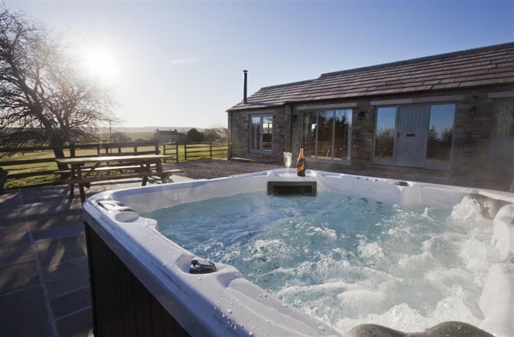 Hot tub in beautiful setting