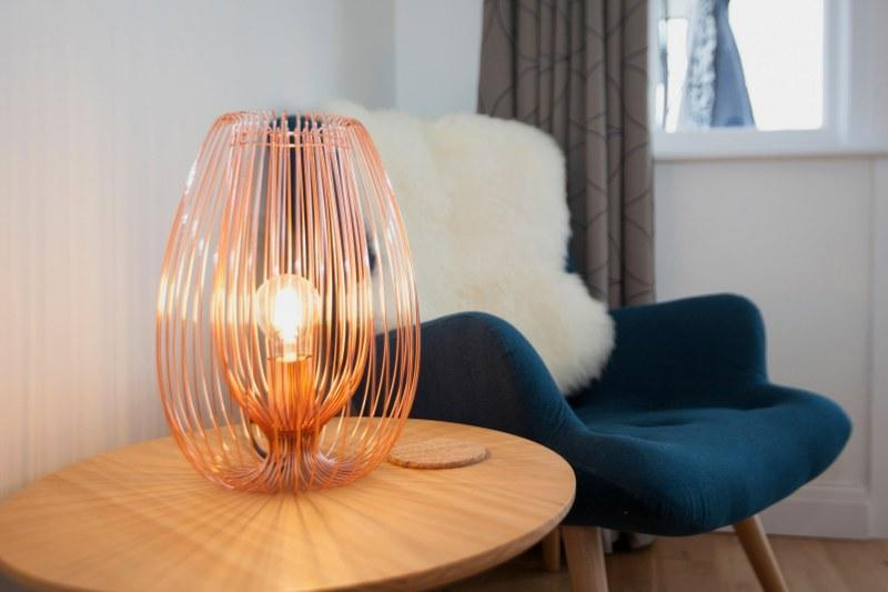 Interesting copper lamp