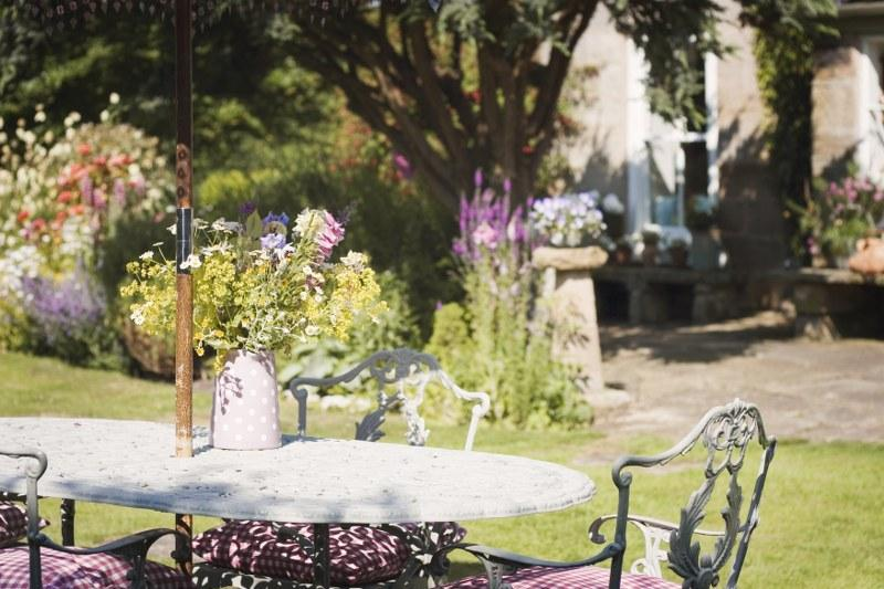 Sit out in the beautiful garden at The Retreat in Sandsend
