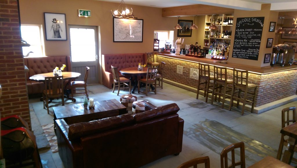 Enjoy a meal at the Saddle Rooms in Middleham