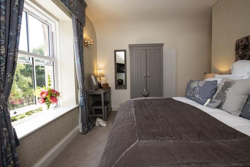 The luxury master bedroom at Station House