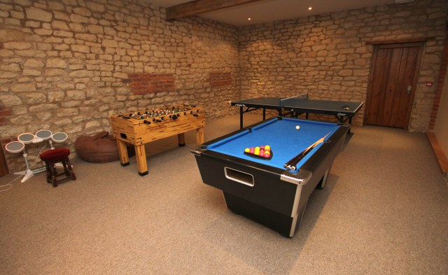 The games room at The Hay Barn