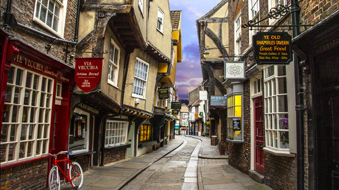 Historical York streets