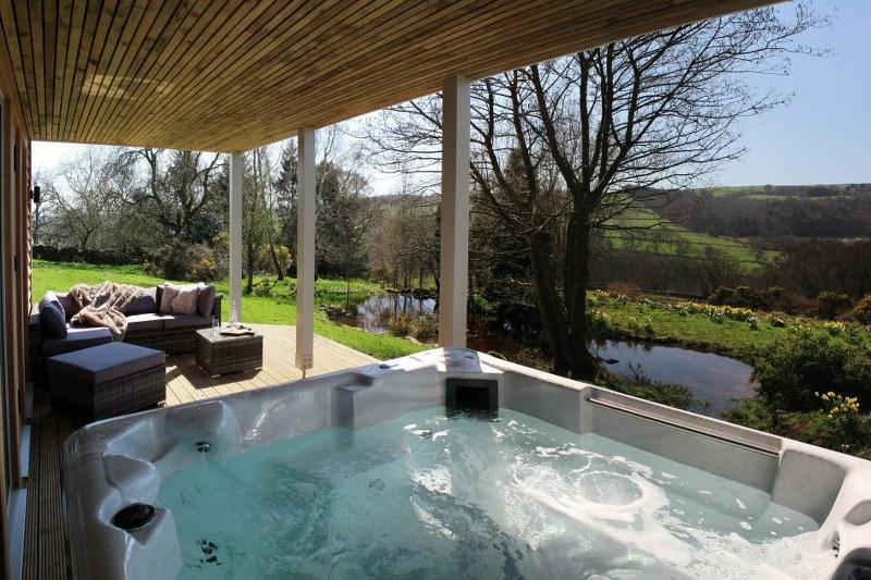 Acrylic hot tubs are easy for guests to work