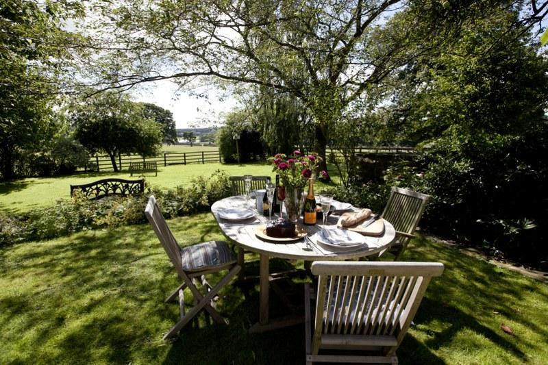 You'll enjoy wonderful views of the surrounding countryside from your garden.