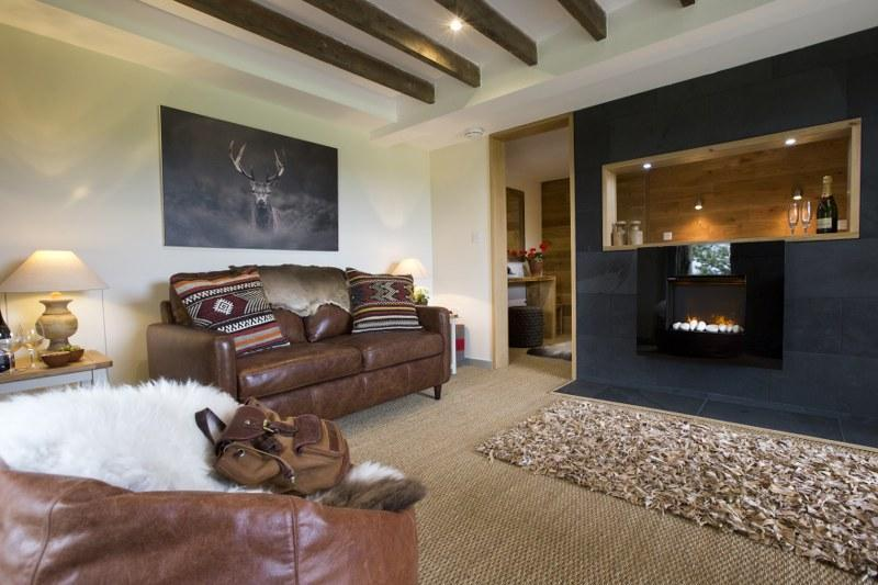 Time to relax in the grown up and stylish living area, a perfect mix of contemporary and country chic.
