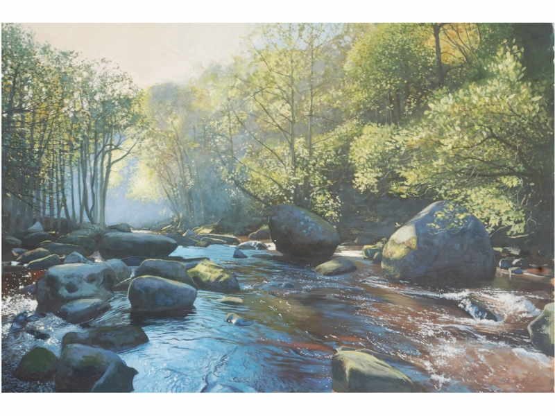 James McGairy. River esk, Autumn Morning