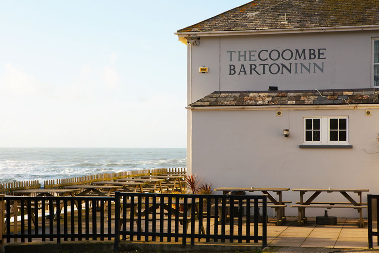 Coombe barton inn pub in north Cornwall
