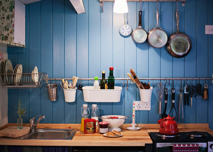 wood shack kitchen