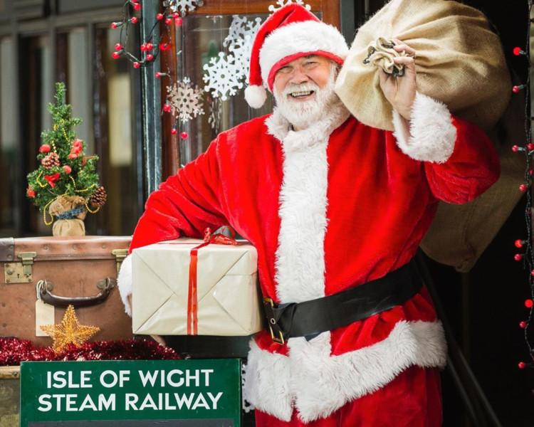 Father Christmas santa event Isle of Wight Steam Railway