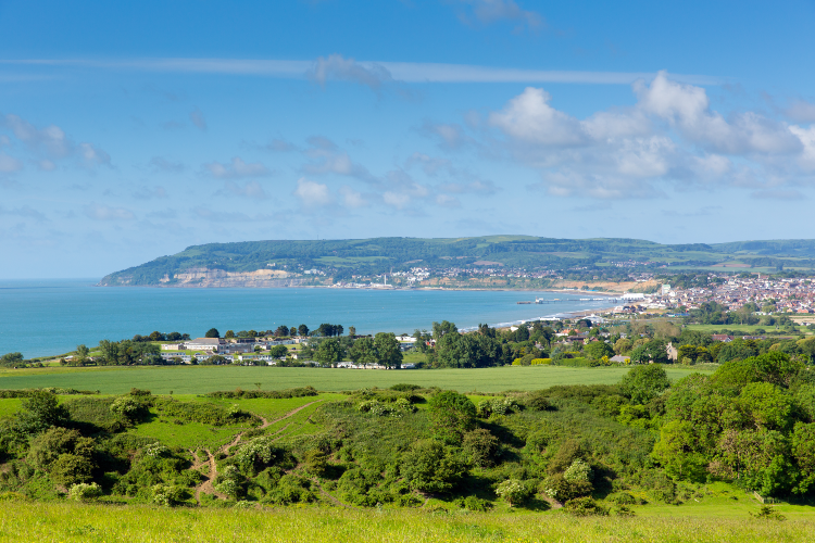 View towards Shanklin and Sandown