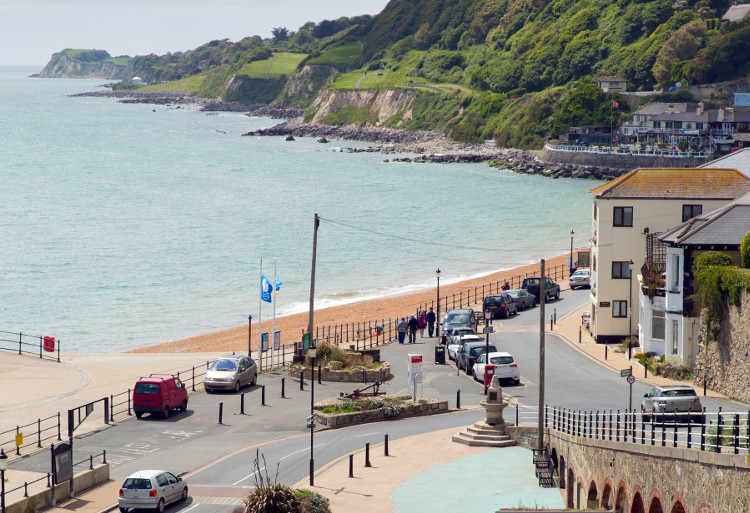 Ventnor Esplanade on the Isle of Wight