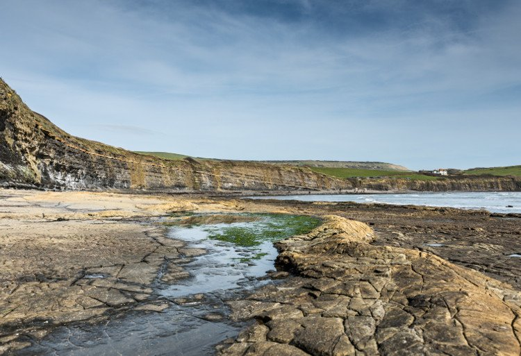 Kimmeridge Bay on the Isle of Purbeck in Dorset