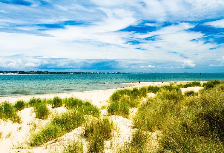 Studland Beach on the Isle of Purbeck in Dorset