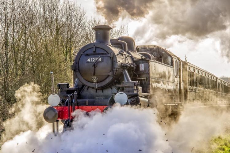 steam train in use